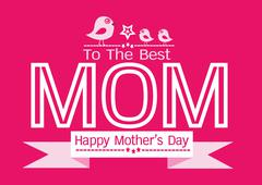 Stock Illustration of Happy mothers day Greeting card design for your mom