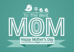 Happy mothers day Greeting card design for your mom Stock Illustration