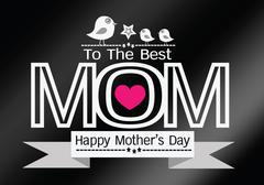 Happy mothers day Greeting card design for your mom - stock illustration