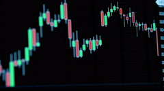 Stock market tickers moving. - stock footage