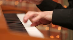A man playing the synthesizer Stock Footage
