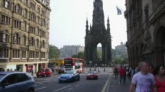 Stock Video Footage of Scott Monument in Edinburgh