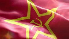 Animated 3D flag of USSR Stock Footage