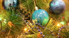 Christmas and New Year Decoration - stock footage