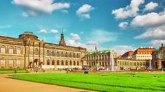 Stock Video Footage of DRESDEN,GERMANY-SEPTEMBER 08,2015: Zwinger Palace (Der Dresdner Zwinger) Art