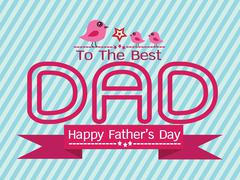 Happy Father's Day card idea design for your DAD - stock illustration