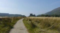 Kilchurn Castle - stock footage