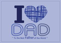 Happy Father's Day card idea design for your DAD Stock Illustration