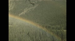 Vintage 16mm film, 1948, Canada, rainbow over Bow River Stock Footage