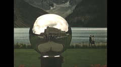 Stock Video Footage of Vintage 16mm film, 1948, Canada, Chateau lake louise mirror ball