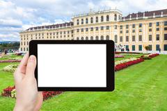 Stock Photo of photographs of lawn in Schloss Schonbrunn palace