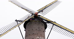 windmill belgium 4K - stock footage