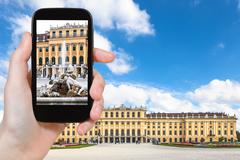 Stock Photo of snapshot of fountain, Schonbrunn palace, Vienna