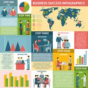 Infographic Five Steps For Success Business - stock illustration