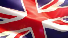 Animated 3D flag of England . Stock Footage
