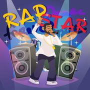 Rap Music Poster - stock illustration