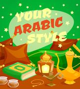 Arabic Culture Concept - stock illustration