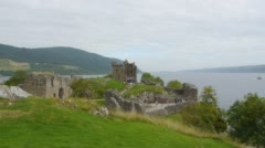 Urquhart Castle Stock Footage