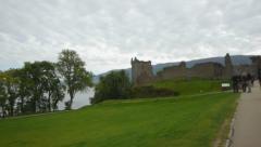 Urquhart Castle Stock Footage