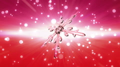 bokeh Christmas Snowflake blue to red - stock footage