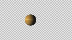 Venus with atmosphere and without and zoom in Alpha channel Stock Footage