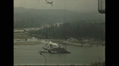 Vintage 16mm film, 1948, Canada, pan across to Burrard Stock Footage