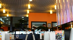 Shooting in cafe, sushi restaurant. Stock Footage