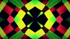 Flowered Kaleidoscope Multicolored Geometrical Abstract BAckground Stock Footage