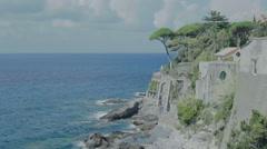 Bogliasco Coastline Riviera di Levante Italy - 25FPS PAL Stock Footage