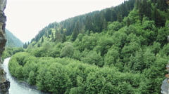 Mountain river  in mountaine Stock Footage