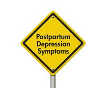 Postpartum Depression Symptoms Warning Sign - stock illustration