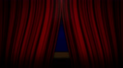 Theater Stage and Blue Screen, with Alpha Channel, 4k Stock Footage