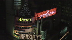 Hershey's chocolate in New York City Stock Footage