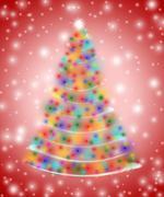 Christmas tree in lights Stock Illustration