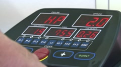 The control panel on the treadmill Stock Footage