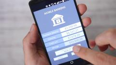 4K Mobile Banking Paying Online with Smartphone App Stock Footage