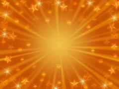 Christmas background radiate in golden - stock illustration