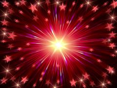Christmas background radiate in red and violet - stock illustration
