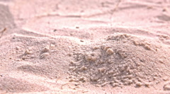 Slipping sand making a dune close up Stock Footage