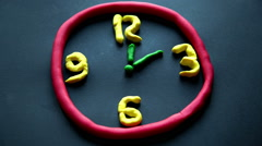 Stop motion and animation of a clock and the passage of time Stock Footage