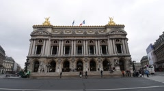 Palais Garnier Opera House static shot Stock Footage