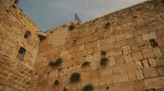 The Western wall in Jerusalem Stock Footage