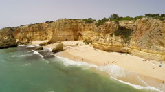 Aerial Footage Praia da Marinha, Porches, Algarve Stock Footage