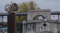 Pont de Bir-Hakeim Close Up Stock Footage
