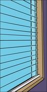 Close Up of Open Blinds Stock Illustration