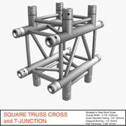 3d model of Square Truss Cross and T-Junction 031