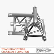 Triangular Truss Cross and T Junction 084 - 3D model