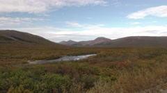 Arctic Tundra Landscape in Alaska in Fall Autumn Stock Footage