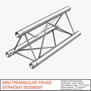 Mini Triangular Truss Straight Segment 111 - 3D model