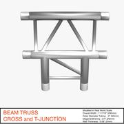Beam Truss Cross and T Junction 134 - 3D model